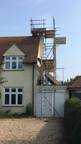 domestic scaffolding for house in Sussex